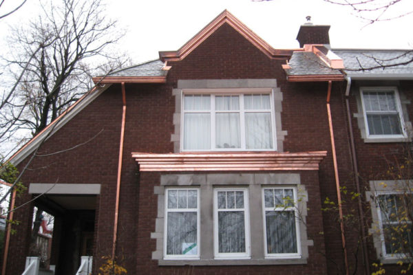 Slate and copper roofing